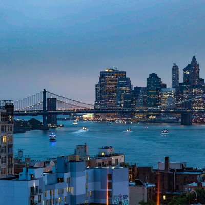 Twilight, Brooklyn Bridge
